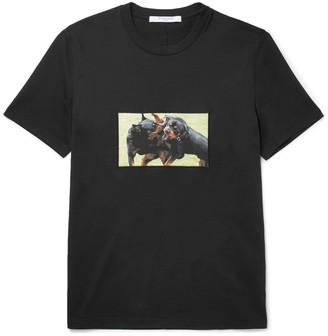 Givenchy Cuban-Fit Rottweiler-Appliquéd Cotton-Jersey T-Shirt $595 thestylecure.com