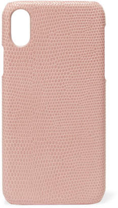 Factory The Case Lizard-effect Leather Iphone X Case - Blush