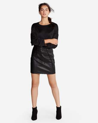 Express Ruched Long Sleeve Top