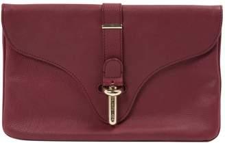 Balenciaga Burgundy Leather Clutch Bag
