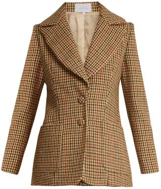 Luisa Beccaria Hound's-tooth checked single-breasted wool jacket