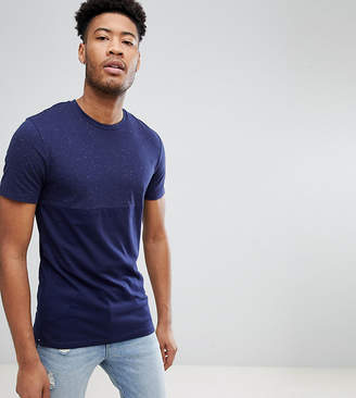 Selected TALL T-Shirt in Marl Stretch Cotton