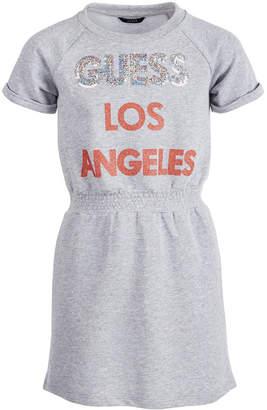 GUESS Big Girls Sequin Logo T-Shirt Dress