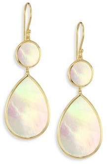 Ippolita Polished Rock Candy Mother-Of-Pearl& 18K Yellow Gold Snowman Drop Earrings