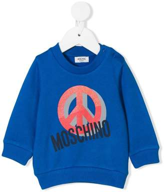 Moschino Kids peace sign sweatshirt