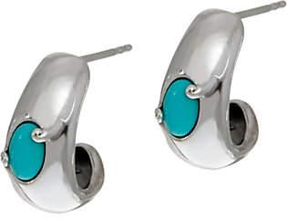 Carolyn Pollack Sleeping Beauty TurquoiseHoop Earrings