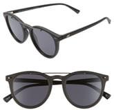 Le Specs Fire Starter 49mm Round Sunglasses