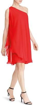 Lauren Ralph Lauren One-Shoulder Georgette Dress