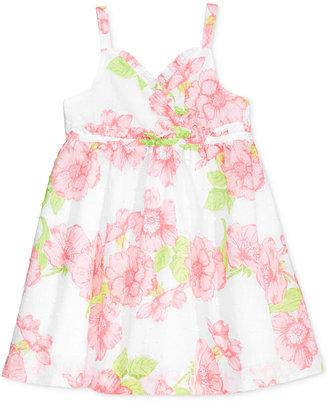 Penelope Mack Floral-Print Swiss-Dot Dress, Baby Girls (0-24 months) $28 thestylecure.com