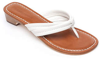 903c6ab5cbfd46 Bernardo Miami Flat Antiqued Leather Thong Sandals