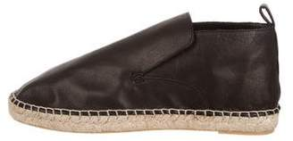 Vince Leather Round-Toe Espadrilles