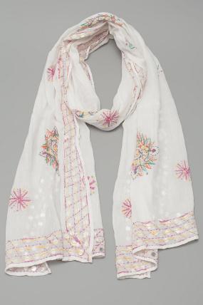 Antik Batik Assini Scarf White