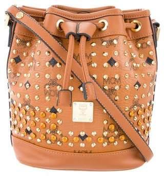 MCM Studded Bucket Crossbody Bag