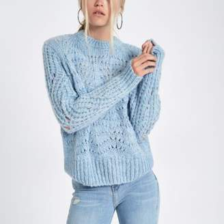 River Island Light blue knitted sweater