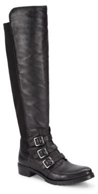 Jayce Buckled Leather Tall Shaft Boots $229 thestylecure.com