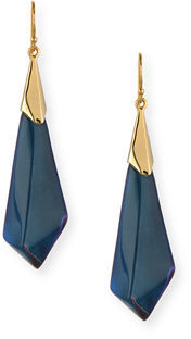 Alexis Bittar Faceted Lucite Wire Drop Earrings $135 thestylecure.com