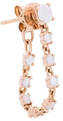 Anita Ko 18kt gold Loop diamond earring