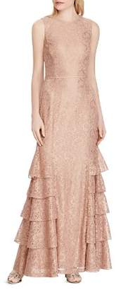Ralph Lauren Tiered Lace Gown