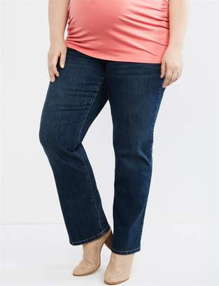 Motherhood Maternity Plus Size Petite Secret Fit Belly Straight Leg Maternity Jeans