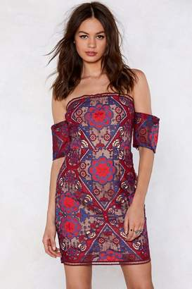 Nasty Gal Got a Lot On My Thread Embroidered Dress