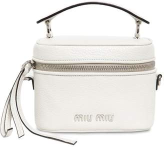 Miu Miu Small Madras Leather Shoulder Bag