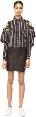 Milly STRIPE SHIRTING RILEY TOP
