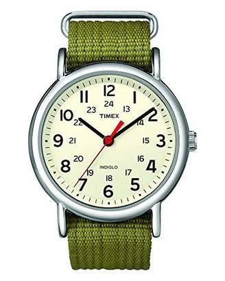 Timex Unisex T2N651 Weekender Nylon Slip-Thru Strap Watch
