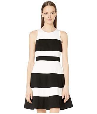 Kate Spade Stripe Ponte A-Line Dress