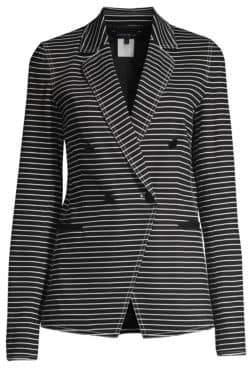 Lafayette 148 New York Devin Asymmetric Striped Jacket