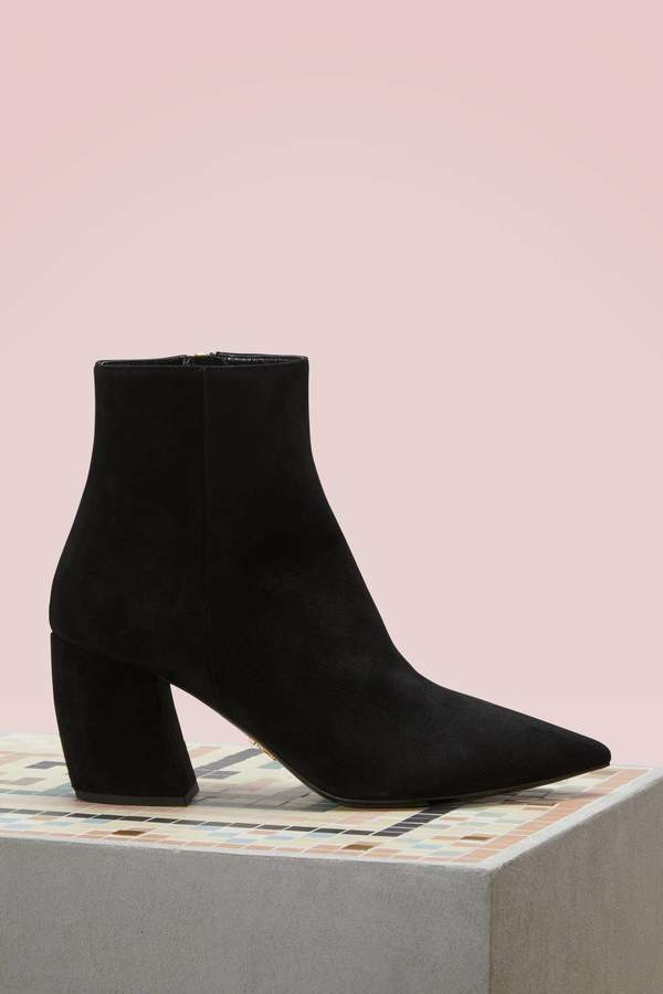 Prada Banana suede ankle boots