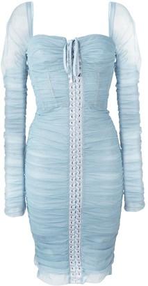 Dolce & Gabbana draped lace bustier dress