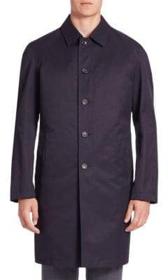 Sanyo COLLECTION Solid Long-Sleeve Trench Coat