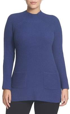 Chaus Ribbed Mockneck Sweater