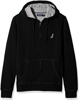 Nautica Men's Long Sleeve Sueded Fleece Full Zip Hoodie Sweatshirt