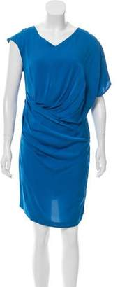 Ali Ro Draped Knee-Length Dress