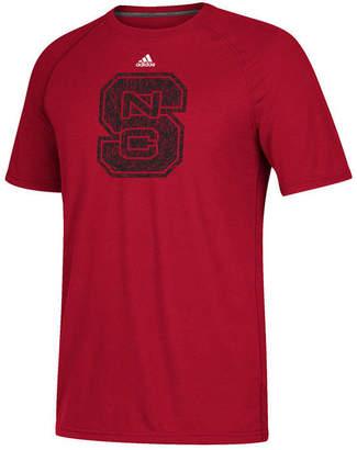adidas Men's North Carolina State Wolfpack White Noise Logo T-Shirt