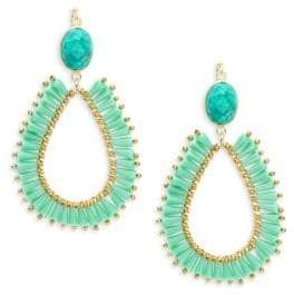 Panacea Crystal Open Teardrop Earrings