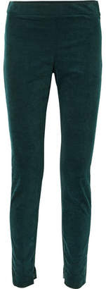 Theory Cotton-blend Corduroy Leggings - Forest green