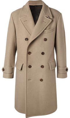 Tom Ford Double-breasted Felted Wool-blend Coat - Beige