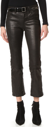 J Brand Selena Cropped Leather Pants $998 thestylecure.com