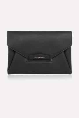 Givenchy Antigona Textured-leather Clutch - Black