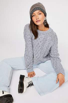 Aran Isle Cable Crew Pullover Sweater