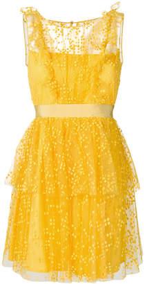 Si Jay embroidered flared mini dress