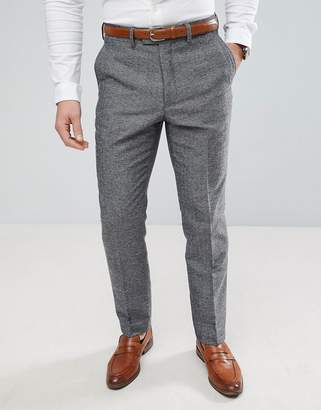 French Connection Semi Plain Donegal Slim Fit Suit Pants