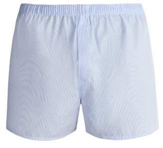 Sunspel - Classic Cotton Boxer Shorts - Mens - Blue