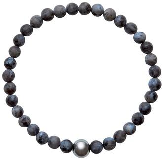 A+ro Ora Pearls ARO Men's Tahitian Pearl & Larvikite Bracelet