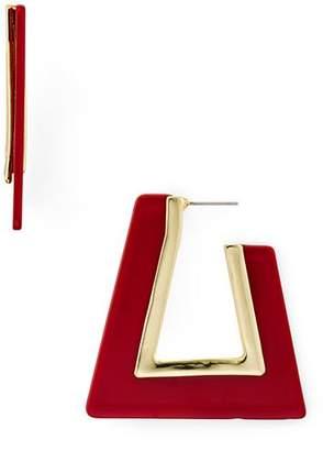 Rebecca Minkoff Triangular Resin Drop Earrings