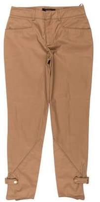 Gucci Mid-Rise Straight-Leg Jodpuhrs Pants w/ Tags Khaki Mid-Rise Straight-Leg Jodpuhrs Pants w/ Tags