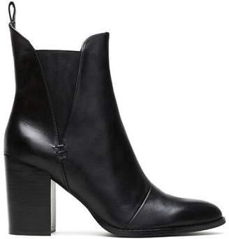 NEW Wittner Honesty Black Leather Elasticated Gusset Block Heel Ankle Boot