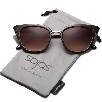 75560461cd5 Cat Eye SojoS Brand Designer Sunglasses Fashion UV400 Protection Glasses  SJ2052 with Clear Frame Clear